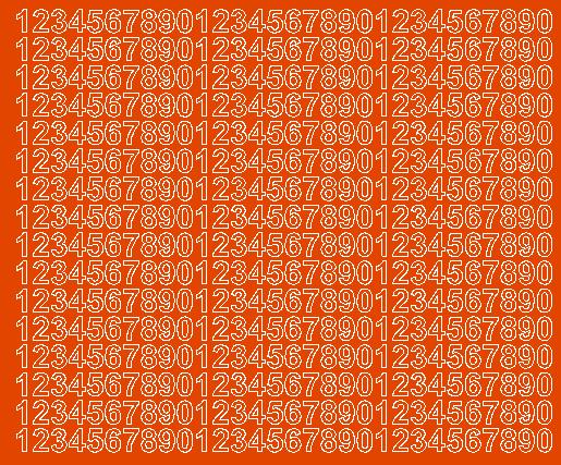 Cyfry samoprzylepne 1 cm pomarańczowy z połyskiem
