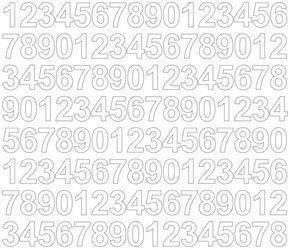 Cyfry samoprzylepne 2 cm biały matowy