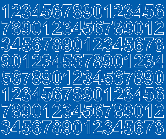 Cyfry samoprzylepne 2 cm niebieski matowy