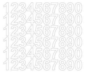 Cyfry samoprzylepne 3 cm białe z połyskiem