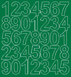 Cyfry samoprzylepne 4 cm zielone matowy