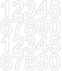 Cyfry samoprzylepne 5 cm biały matowy