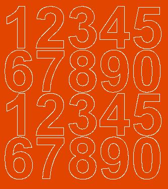 Cyfry samoprzylepne 5 cm pomarańczowy z połyskiem