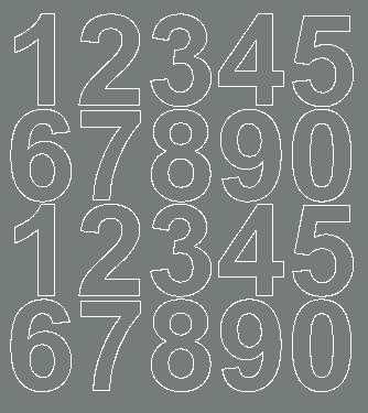 Cyfry samoprzylepne 5 cm szary matowy