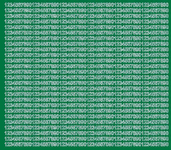 Cyfry samoprzylepne 5 milimetrów zielone matowy