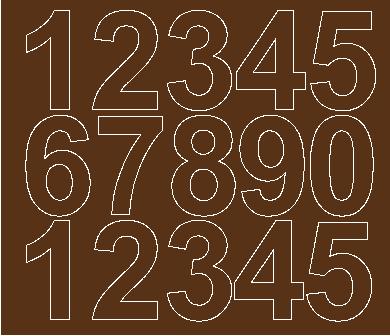Cyfry samoprzylepne 6 cm brązowy z połyskiem
