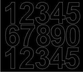 Cyfry samoprzylepne 6 cm czarny matowy