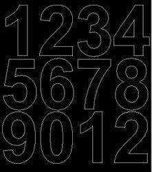 Cyfry samoprzylepne 7 cm czarne z połyskiem