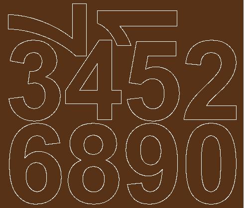 Cyfry samoprzylepne 8 cm brązowy z połyskiem
