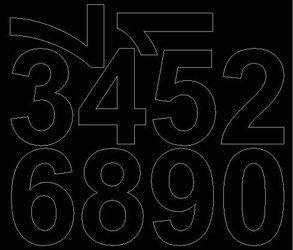Cyfry samoprzylepne 8 cm czarny matowy