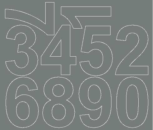 Cyfry samoprzylepne 8 cm szary z połyskiem