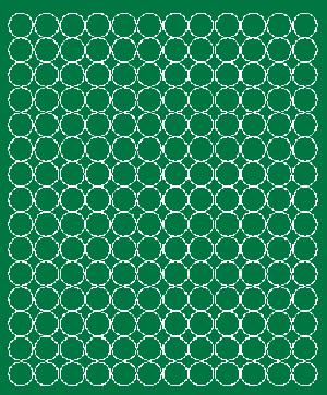 Koła grochy samoprzylepne 1.5 cm  zielone z połyskiem 180 szt