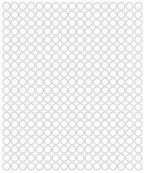 Koła grochy samoprzylepne 1 cm biały matowy 357 szt
