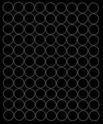 Koła grochy samoprzylepne 2 cm czarny matowy 99 szt