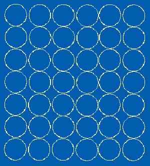 Koła grochy samoprzylepne 3 cm niebieski matowy 42 szt