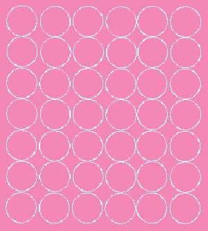 Koła grochy samoprzylepne 3 cm różowy z połyskiem 42 szt