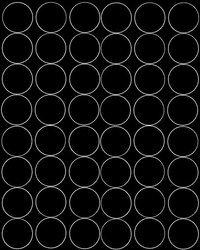 Koła grochy samoprzylepne 6 cm czarny matowy 48 szt