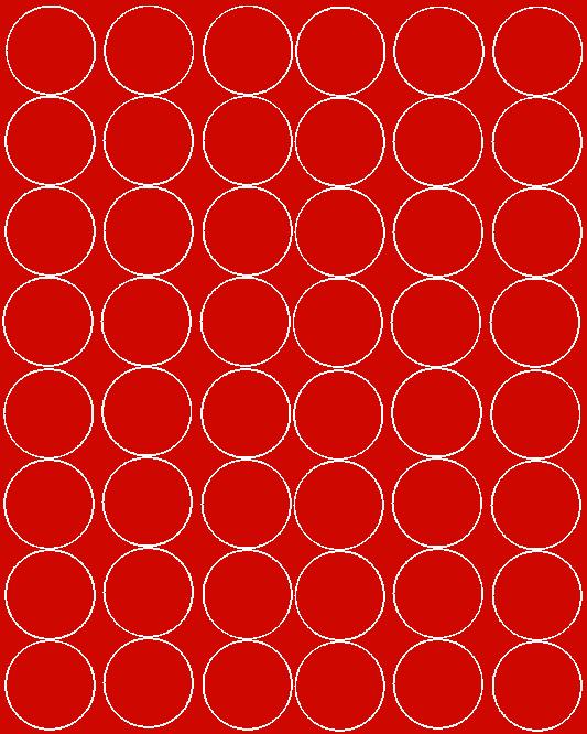 Koła grochy samoprzylepne 6 cm czerwone matowy 48 szt
