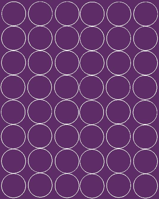 Koła grochy samoprzylepne 6 cm fioletowy z połyskiem 48 szt