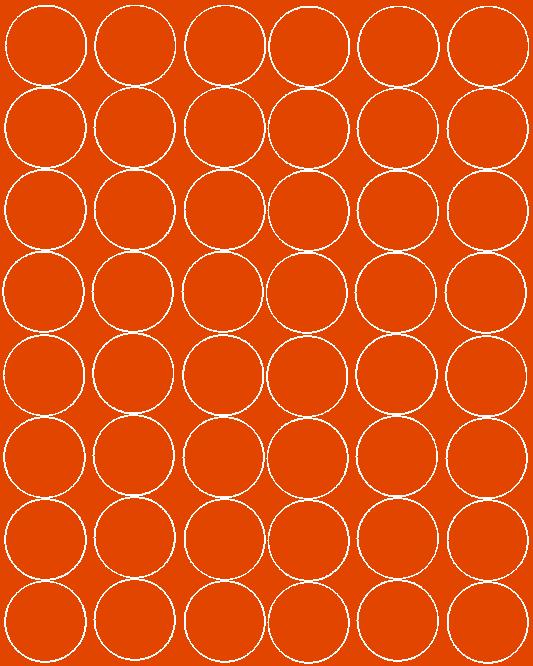 Koła grochy samoprzylepne 6 cm pomarańczowy z połyskiem 48 szt