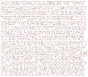 Litery samoprzylepne 1 cm białe z połyskiem