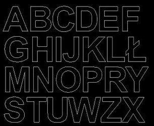 Litery samoprzylepne 4 cm czarne z połyskiem