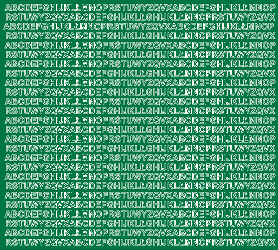 Litery samoprzylepne 5 milimetrów zielone z połyskiem