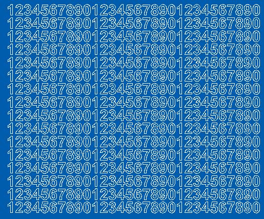Cyfry samoprzylepne 1 cm niebieski matowy