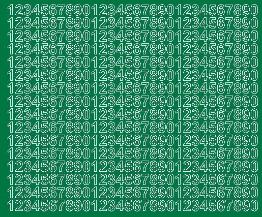 Cyfry samoprzylepne 1 cm zielone matowy
