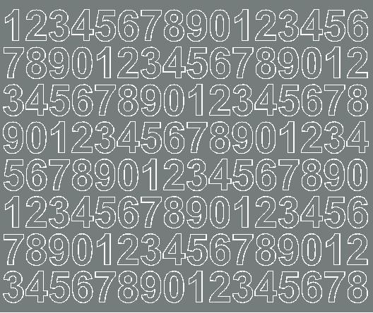 Cyfry samoprzylepne 2 cm szary z połyskiem