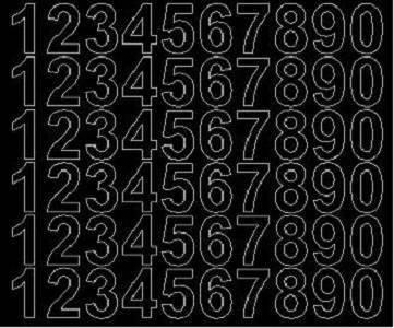 Cyfry samoprzylepne 3 cm czarne z połyskiem