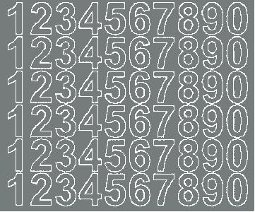 Cyfry samoprzylepne 3 cm szary z połyskiem