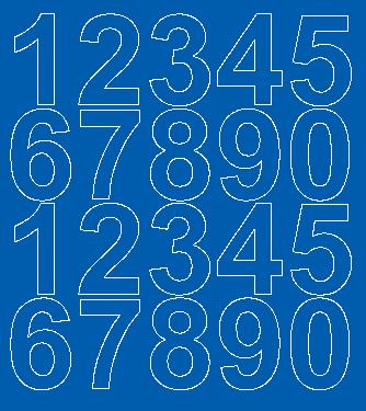 Cyfry samoprzylepne 5 cm niebieski matowy
