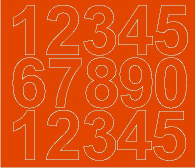 Cyfry samoprzylepne 6 cm pomarańczowy z połyskiem