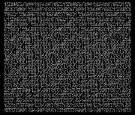 Cyfry samoprzylepne 7 milimetrów czarne z połyskiem