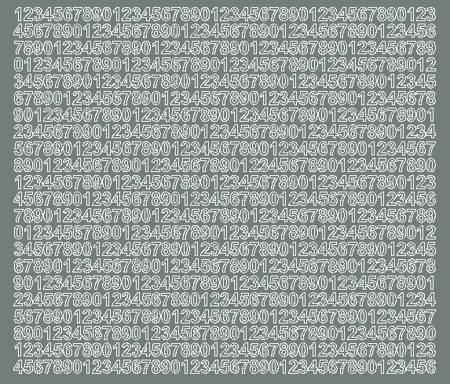 Cyfry samoprzylepne 7 milimetrów szary matowy