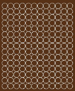 Koła grochy samoprzylepne 1.5 cm brązowy z połyskiem 180 szt