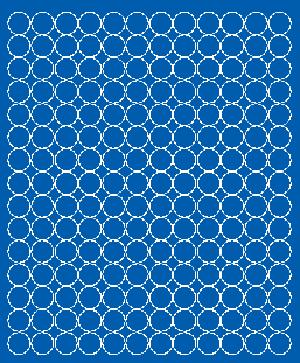 Koła grochy samoprzylepne 1.5 cm niebieski matowy 180 szt