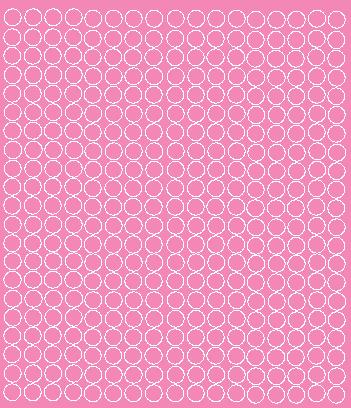 Koła grochy samoprzylepne 1 cm różowy z połyskiem 357 szt