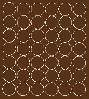 Koła grochy samoprzylepne 3 cm brązowy z połyskiem 42 szt