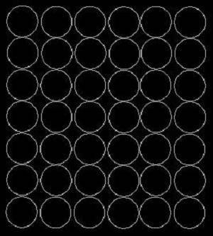 Koła grochy samoprzylepne 3 cm czarne z połyskiem 42 szt