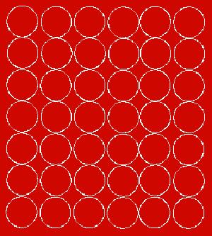 Koła grochy samoprzylepne 3 cm czerwone matowy 42 szt