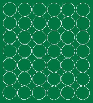 Koła grochy samoprzylepne 3 cm zielone matowy 42szt