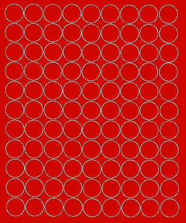 Koła grochy samoprzylepne 4 cm czerwone matowy 99 szt