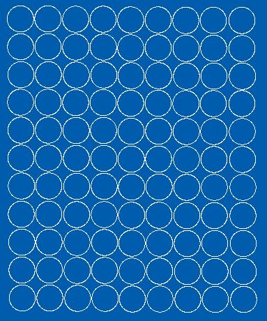 Koła grochy samoprzylepne 4 cm niebieski matowy 99 szt