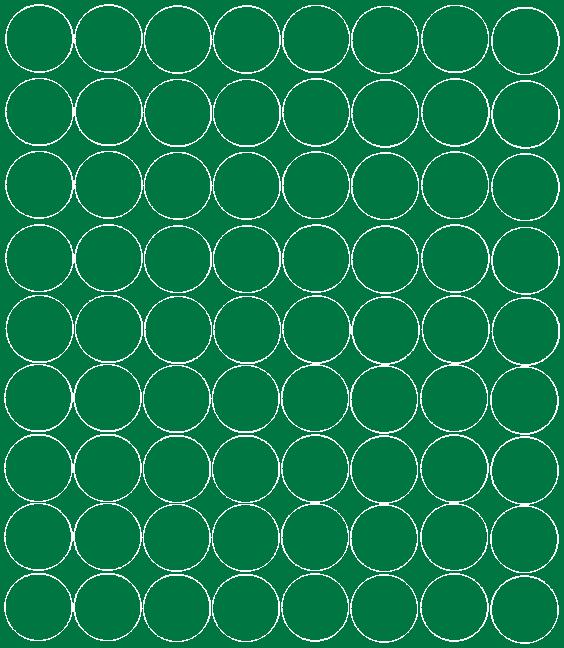 Koła grochy samoprzylepne 5 cm zielone matowy 72 szt