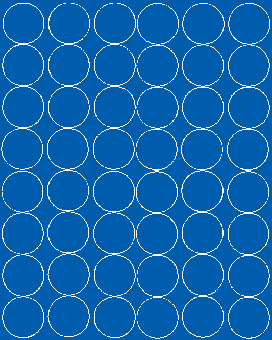 Koła grochy samoprzylepne 6 cm niebieski z połyskiem 48 szt