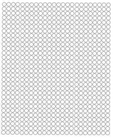 Koła grochy samoprzylepne 7 milimetrów białe z połyskiem 720 szt