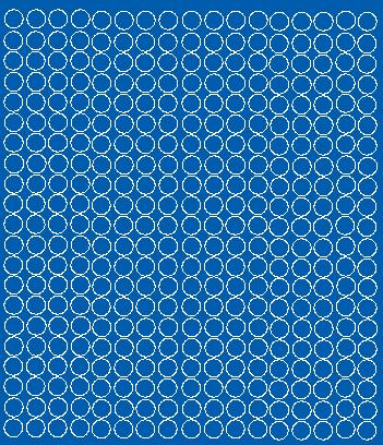 Koła grochy samoprzylepne1 cm niebieski matowy 357 szt