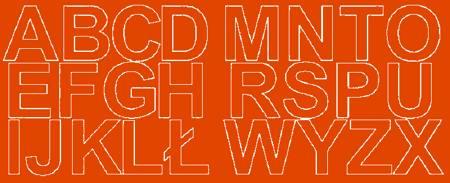 Litery samoprzylepne 6 cm pomarańczowy z połyskiem